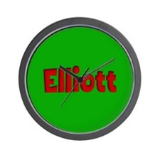 Elliott Green and Red Wall Clock