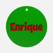 Enrique Green and Red Ornament (Round)
