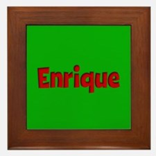 Enrique Green and Red Framed Tile