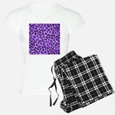 Purple Leopard Print. Pajamas