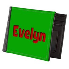 Evelyn Green and Red Mens Wallet