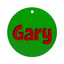 Gary Green and Red Ornament (Round)