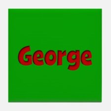 George Green and Red Tile Coaster