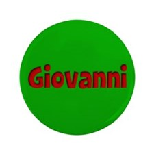 """Giovanni Green and Red 3.5"""" Button"""