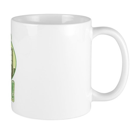Green Boston Skyline Mug