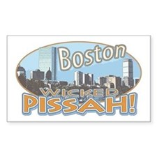 Boston Skyline Wicked Pissah Rectangle Decal
