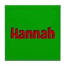 Hannah Green and Red Tile Coaster