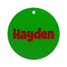 Hayden Green and Red Ornament (Round)