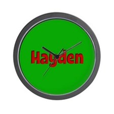 Hayden Green and Red Wall Clock