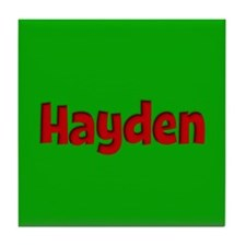 Hayden Green and Red Tile Coaster