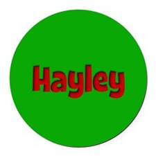 Hayley Green and Red Round Car Magnet