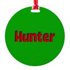 Hunter Green and Red Ornament