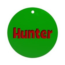 Hunter Green and Red Ornament (Round)