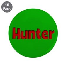 "Hunter Green and Red 3.5"" Button (10 pack)"