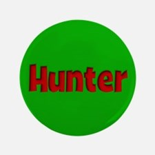 """Hunter Green and Red 3.5"""" Button"""