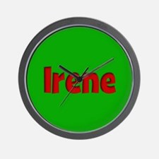 Irene Green and Red Wall Clock