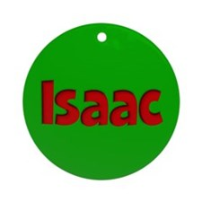 Isaac Green and Red Ornament (Round)