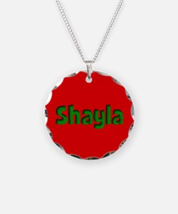 Shayla Red and Green Necklace