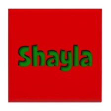 Shayla Red and Green Tile Coaster