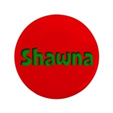 """Shawna Red and Green 3.5"""" Button"""