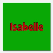 """Isabelle Green and Red Square Car Magnet 3"""" x 3"""""""