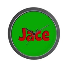 Jace Green and Red Wall Clock