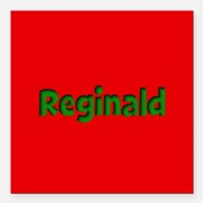 "Reginald Red and Green Square Car Magnet 3"" x 3"""