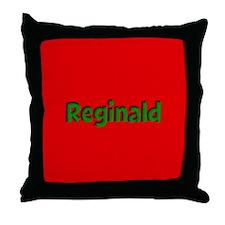 Reginald Red and Green Throw Pillow