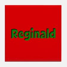 Reginald Red and Green Tile Coaster