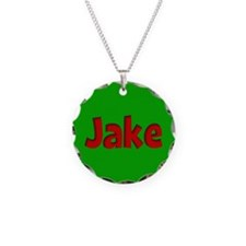 Jake Green and Red Necklace Circle Charm