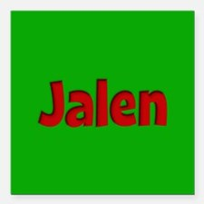 """Jalen Green and Red Square Car Magnet 3"""" x 3"""""""