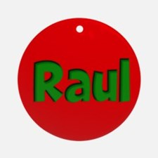 Raul Red and Green Ornament (Round)