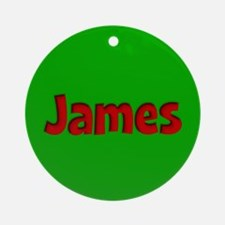 James Green and Red Ornament (Round)