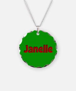 Janelle Green and Red Necklace