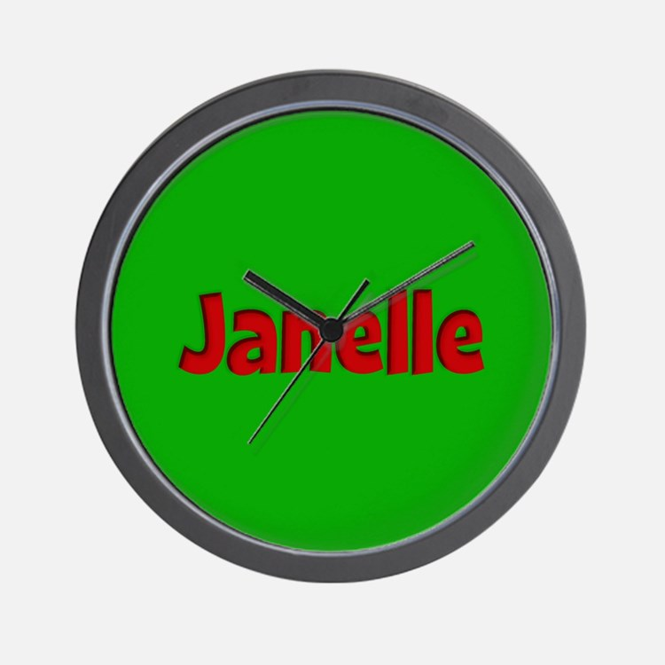 Janelle Green and Red Wall Clock