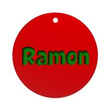 Ramon Red and Green Ornament (Round)
