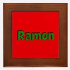 Ramon Red and Green Framed Tile