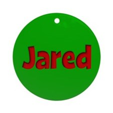 Jared Green and Red Ornament (Round)