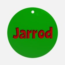 Jarrod Green and Red Ornament (Round)