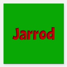 """Jarrod Green and Red Square Car Magnet 3"""" x 3"""""""