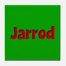 Jarrod Green and Red Tile Coaster