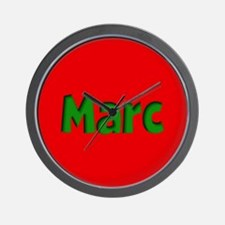 Marc Red and Green Wall Clock