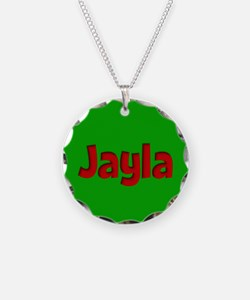 Jayla Green and Red Necklace