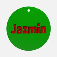 Jazmin Green and Red Ornament (Round)
