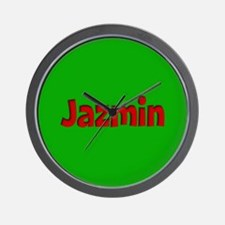 Jazmin Green and Red Wall Clock