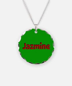 Jazmine Green and Red Necklace