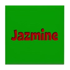 Jazmine Green and Red Tile Coaster