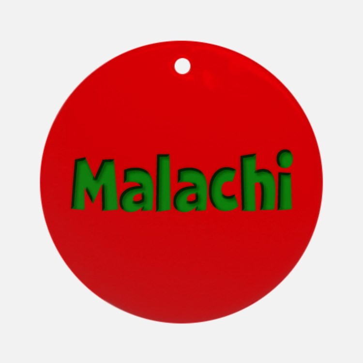 Malachi Red and Green Ornament (Round)