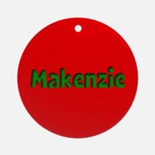 Makenzie Red and Green Ornament (Round)