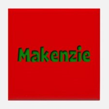 Makenzie Red and Green Tile Coaster